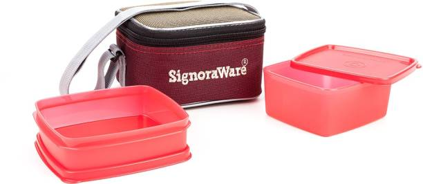 Signoraware Quick Carry Lunch with Bag 2 Containers Lunch Box