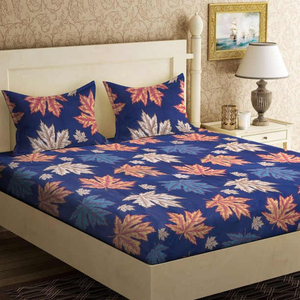 Attirant Metro Living 104 TC Cotton Double Floral Bedsheet