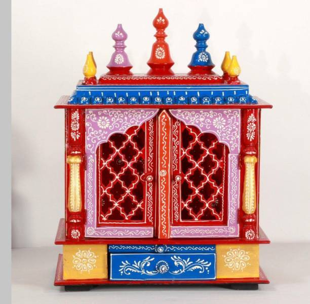 HOME AND BAZAAR HB17KI-063 Solid Wood Home Temple