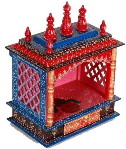 HOME AND BAZAAR HB17KI-069 Solid Wood Home Temple