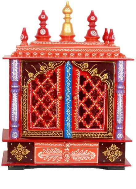 HOME AND BAZAAR HB17KI-066 Solid Wood Home Temple