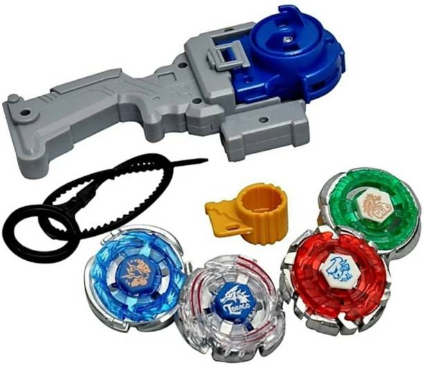 SANJARY Beyblade 4d System Metal Masters Fury With Handle Launcher (Multicolor)