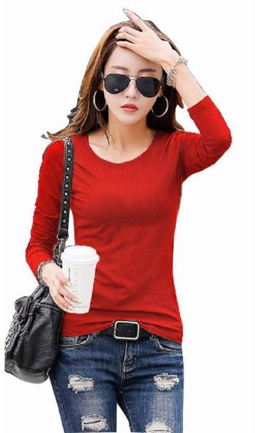 9cd674106d Active Formal Full Sleeve Embellished Women s Red Top