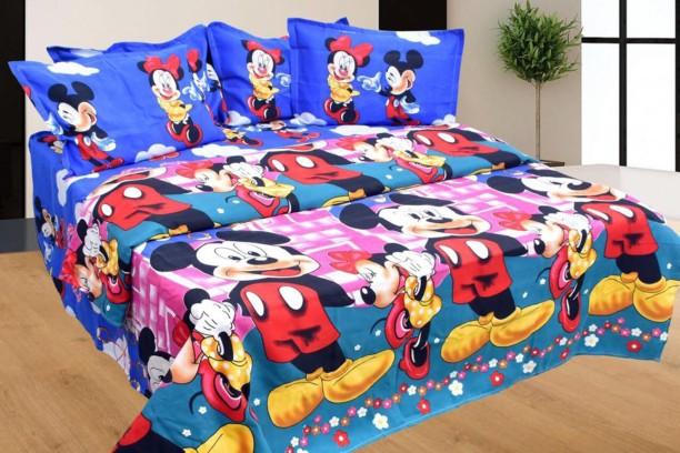 PROFITBLITZ 130 TC Cotton Double Cartoon Bedsheet