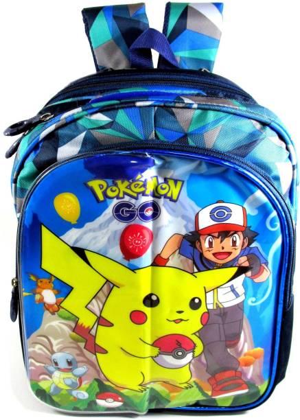 ehuntz Pokemon foldable sheet/minnions school Bag (6 to 12 years) (EH803) Waterproof Backpack