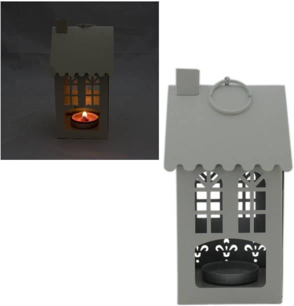 41e7322bb861b Tootpado Gifts   Decor Hut House Shape Candle Holder Hanging Lantern -  Cream (DECd090)