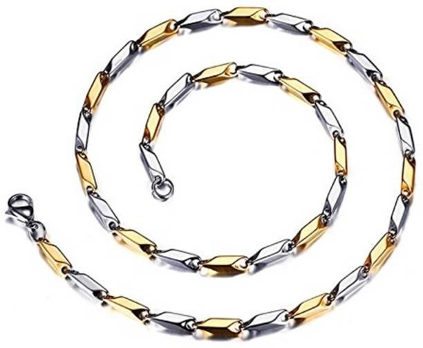 09f63514b49 Bruzone Yellow Gold, Platinum Plated Stainless Steel A05 Gold-plated,  Platinum Plated Stainless