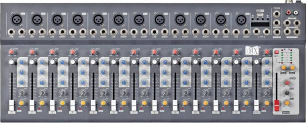 MX Live Audio Mixer 14 Channel Compact Analog Mixer with USB & Bluetooth Analog Sound Mixer