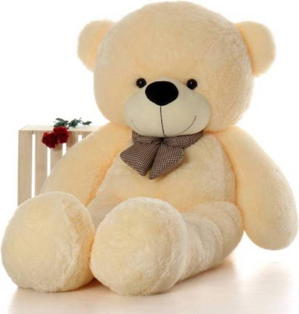 STJ SOFT TOYS 5 Feet Cream Color Teddy Bear - 152 cm (Beige)  - 152 cm