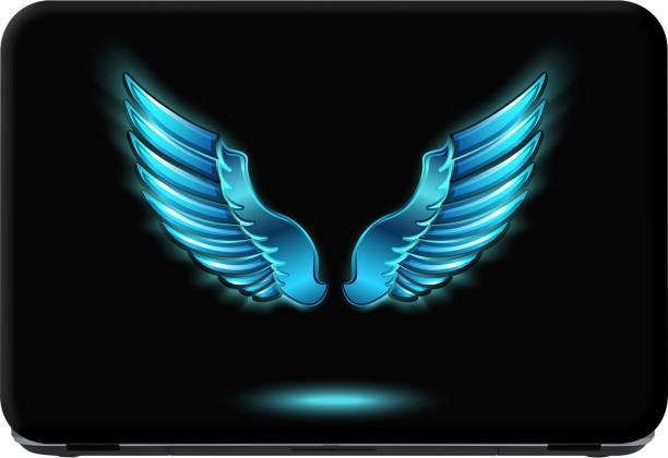 Flipkart SmartBuy blue feathers Premium LG Vinyl (matte) Laptop Decal 15.6
