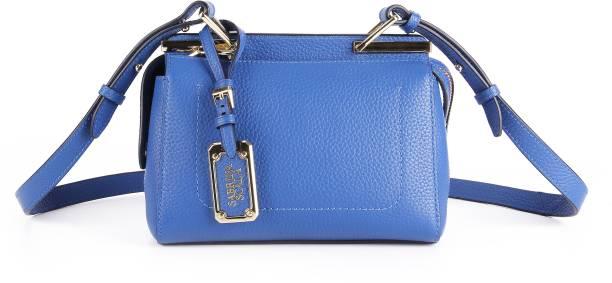 Sabrina Scala Blue Signature Metal Crossbody Bag Shoulder