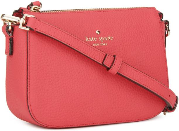 Kate Spade Women Casual Pink Leatherette Sling Bag