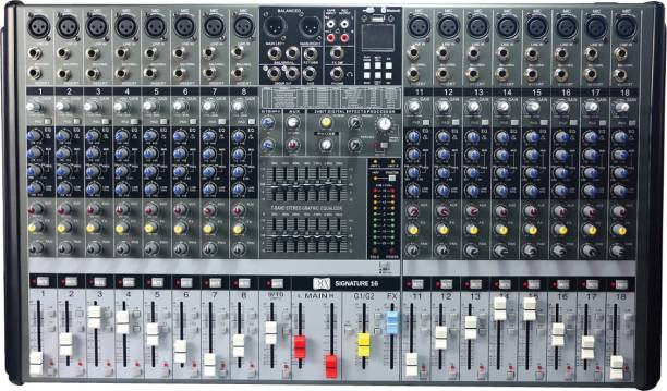 MX Live Audio Mixer 16 Channel Professional Mixer with USB & Bluetooth- Signature 16 Analog Sound Mixer