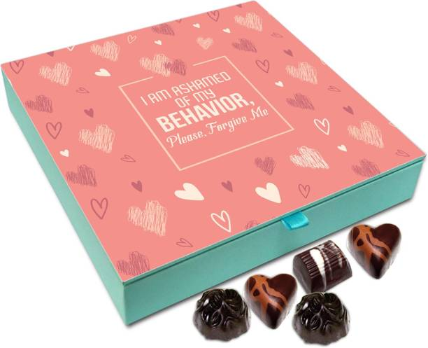 Chocholik Gift Box - I Am Ashamed Of My Behavior Please Forgive Me Chocolate Box - 9pc Truffles