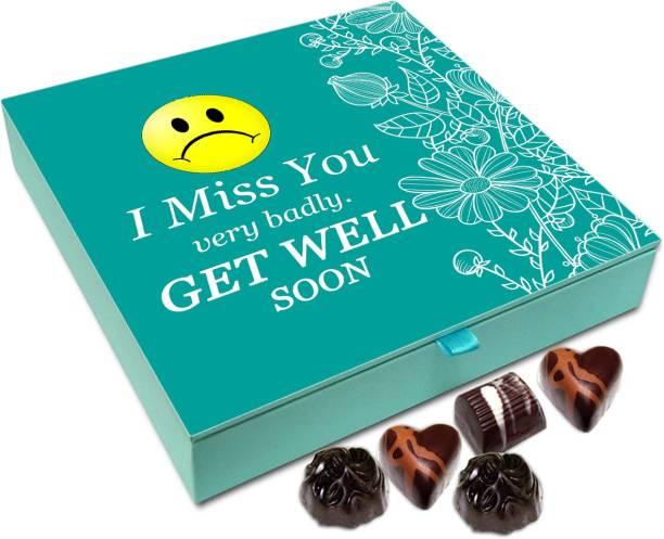 Chocholik Gift Box - I Miss You Very Badly Get Well Soon Chocolate Box - 9pc Truffles