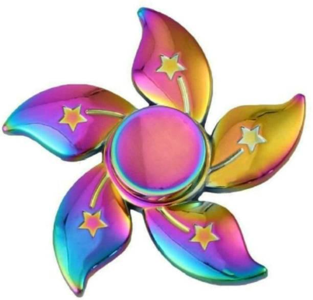 Quality Shinning Rainbow Flower Metal Fidget Hand Spinner Toy
