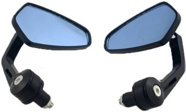 RK BEAUTY Manual Rear View Mirror, Driver Side, Dual Mirror For Royal Enfield Avenger 220 DTS-i, Pulsar 135 LS DTS-i