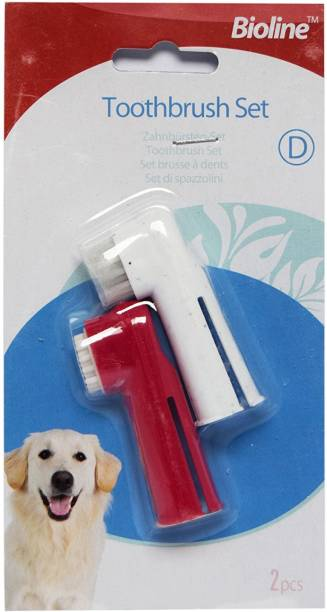 BIOLINE Toothbrush Set For Dogs & Cats Pet Toothbrush