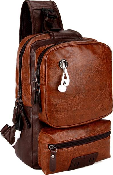 1c258a22a575 VICUNA POLO Anti Theft Crossbody Backpack Bag Men With USB Charger Waterproof  Backpack