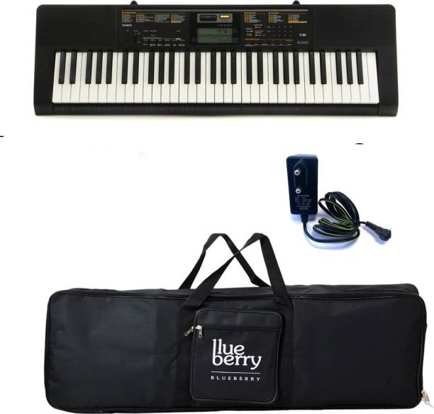 7bccfb76ef3 Casio CTK-2550-Standard (61 Full size keys with Blueberry Cover Bag Along