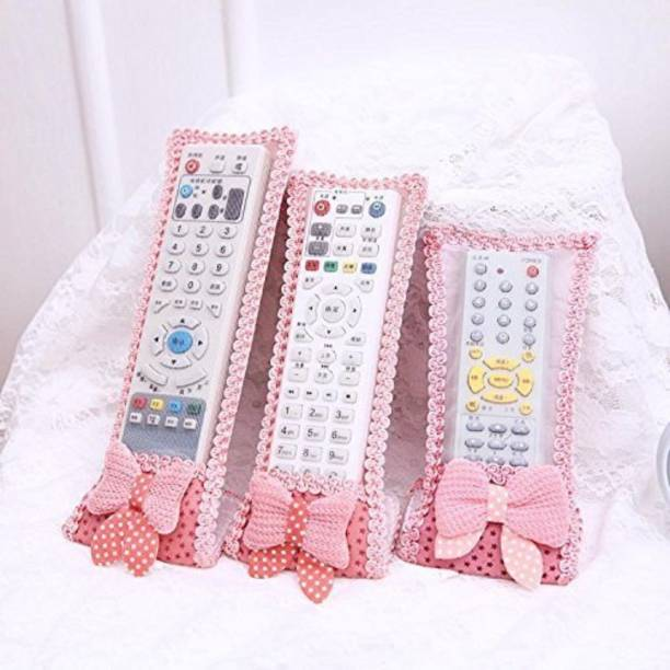 Perfect Pricee Flip Cover for AC Remote Cover Tv RemoteControl CaseTVRemote Cover Textile Protective Bag For Dish TV AC Remote