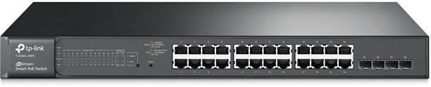 TP-link JetStream 24-Port Gigabit Smart PoE+ Switch with 4 SFP Slots T1600G-28PS(TL-SG2424P)