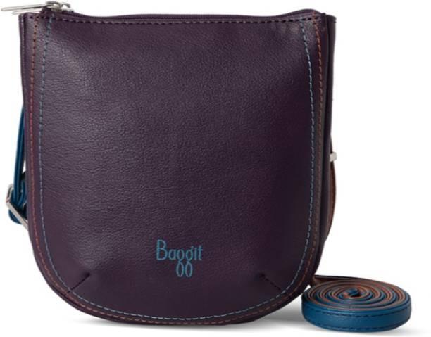 Baggit Women Casual Purple Pu Sling Bag