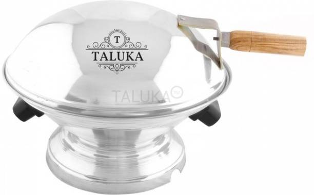TALUKA Aluminum Bati Maker And Tandoor Baking Oven, 22 Cm X 17 Cm X 30 Cm, 1 Piece, Silver Gas Tandoor, Barbecue Grill Food Steamer