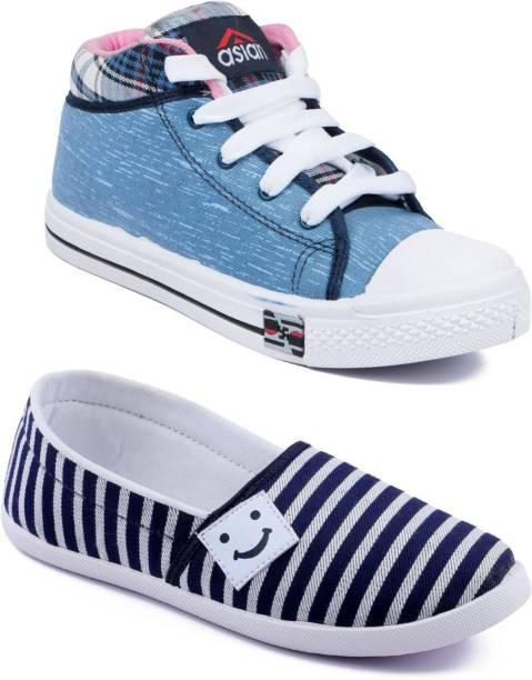 promo code 8553e f4472 Asian Women Casual   Running Shoes Combo Pack of 2 Casuals For Women