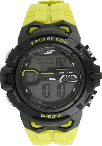 SF 77076PP03 Sonata Fibre Digital Watch  - For Men