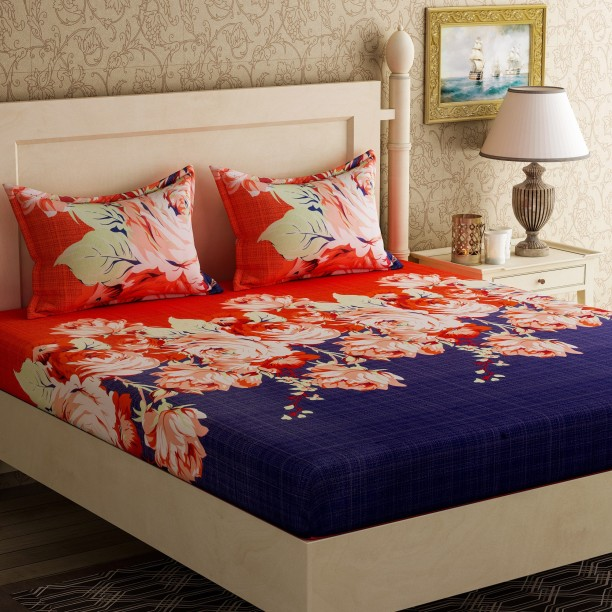 Incroyable Bella Casa 104 TC Cotton Double Floral Bedsheet