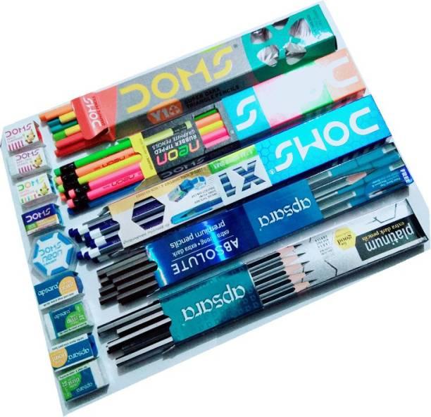 DOMS Neon,X1,Y1+,Apsara Absolute,Platinum Pencil