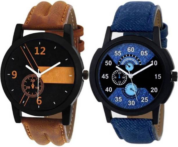 4b590788fdc Miss Perfect New Stylish Leather Strap 001 002 Watch - For Boy Watch - For  Boys