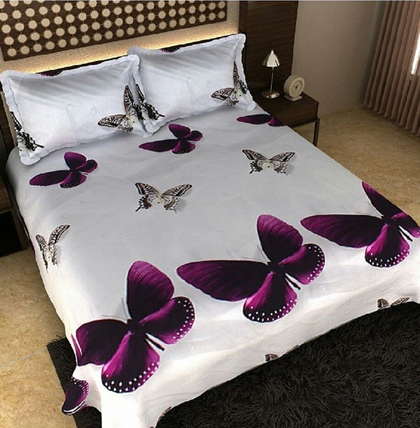 Vishnu Creation 200 TC Polycotton Double Abstract Bedsheet