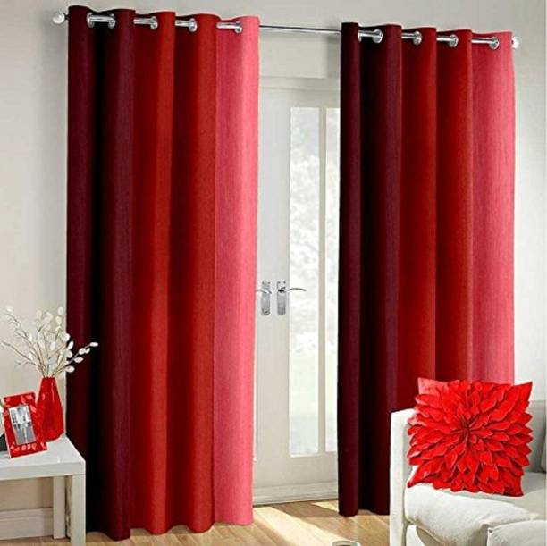 Homerica 214 cm (7 ft) Polyester Door Curtain (Pack Of 2)