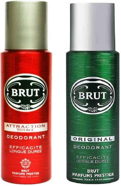 BRUT Original and Attraction Deodorant Spray  -  For Men & Women