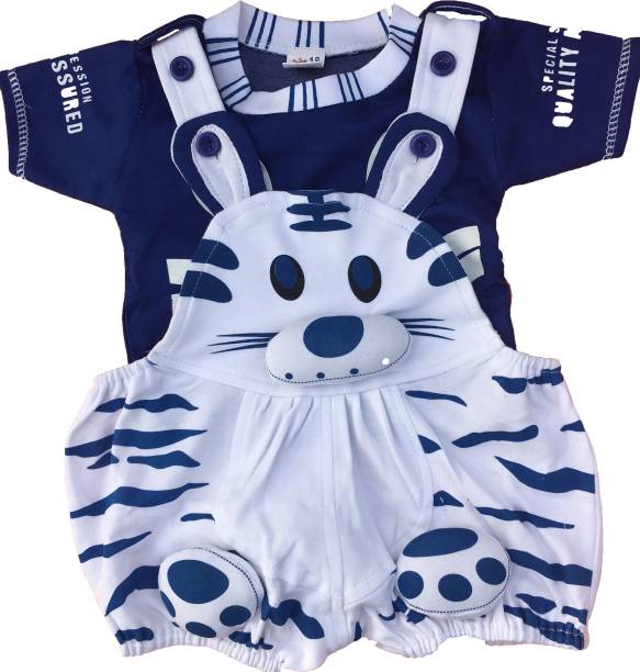 icable dungaree for boy s girl s casual animal