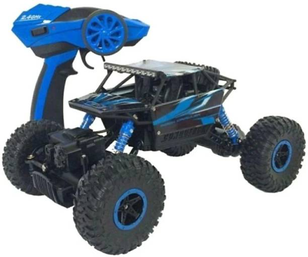 SANJARY Dirt Drift Waterproof Remote Controlled Rock Crawler RC Monster Truck, Four wheel Drive, 1:18 Scale 2.4 (Blue)