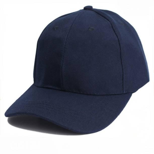 67a102c9ee6 Raydon Solid Solid Fashionable Look Stylish Blue Cotton Baseball Cap