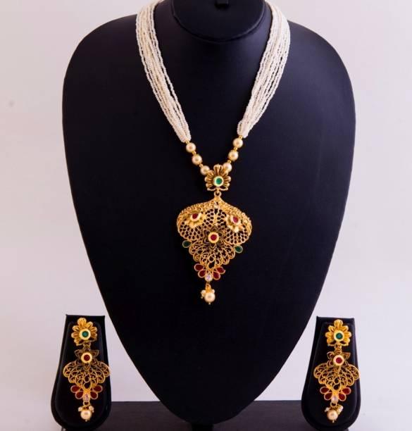 1 gram gold necklace sets buy 1 gram gold necklace sets online at griiham copper jewel set aloadofball Image collections