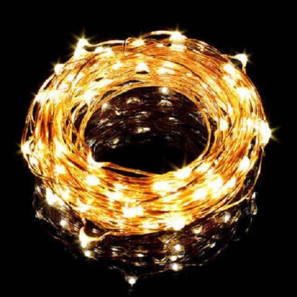Copper String LED Light 5 MTR 50 USB Operated Decorative Lights 20866 Inch Yellow Rice