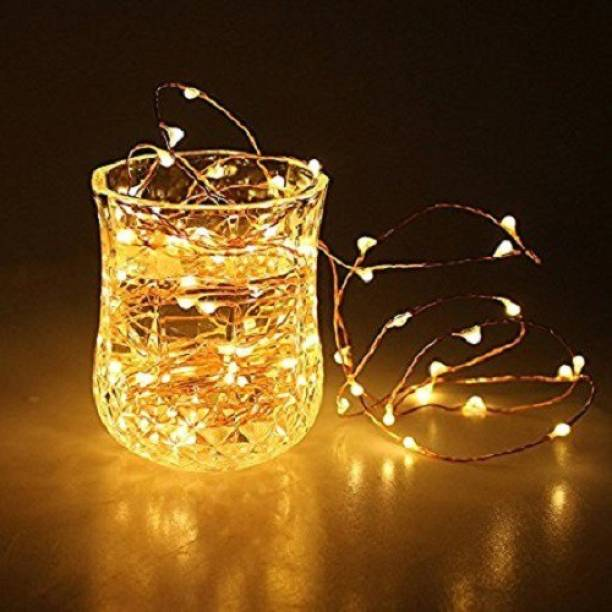 Copper String LED light 5 MTR 50 LED USB Operated Decorative Lights 208.66 inch Yellow Rice Lights