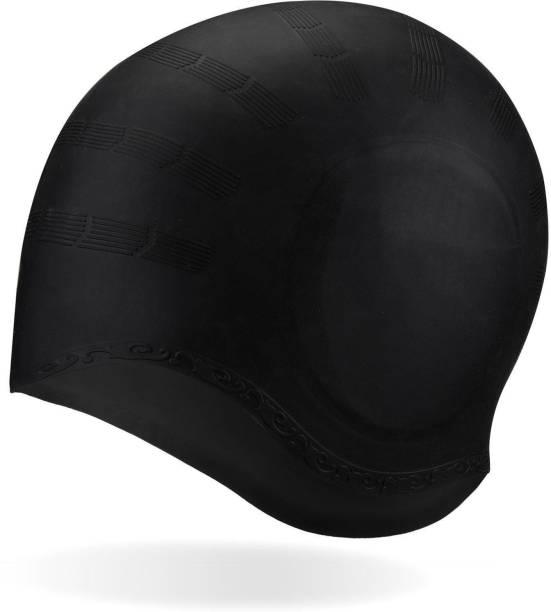 Xerobic Long Hair Ear Protection Swim Cap, Waterproof Silicone Swimming Cap for Adult Men & Woman, Keeps Hair Clean Ear Dry Swimming Cap