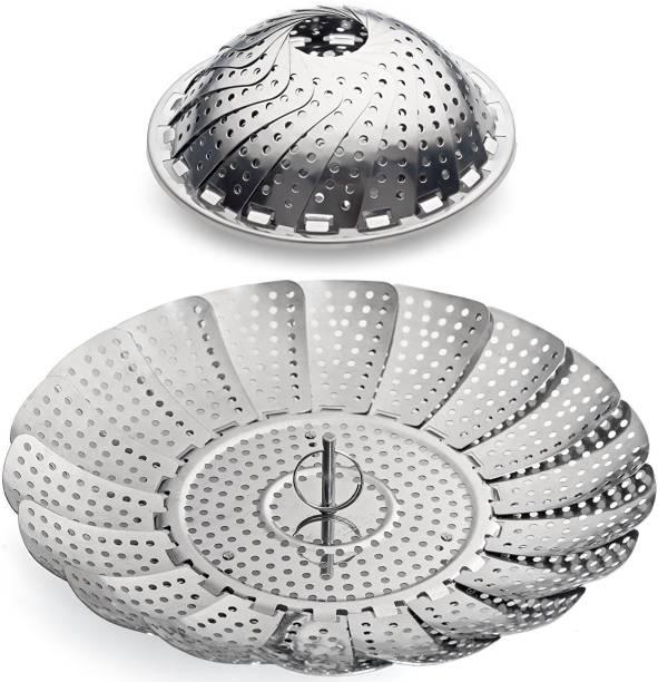 "SYGA 100% Stainless Steel Vegetable Steamer Basket / Insert for Pots, Pans, Crock Pots & more... 7.5"" to 11"" Steel Steamer"