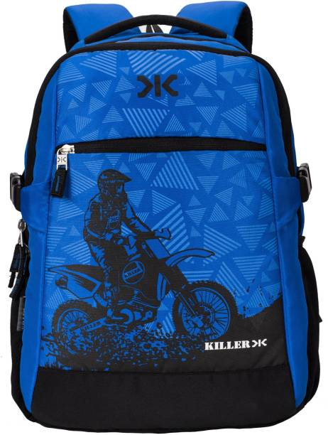 Killer 33L Printed Polyester Royal Blue   Black Laptop Backpack 33 L Laptop  Backpack 1f74331a860a6