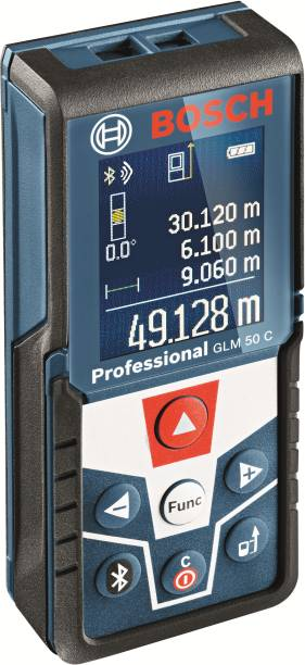 BOSCH GLM 50 C Professional Laser Measure With Bluetooth and Blacklit Display Non-magnetic Line Level