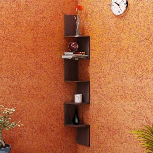 Artesia Wall Mount Brown Wall Shelves MDF (Medium Density Fiber) Wall Shelf