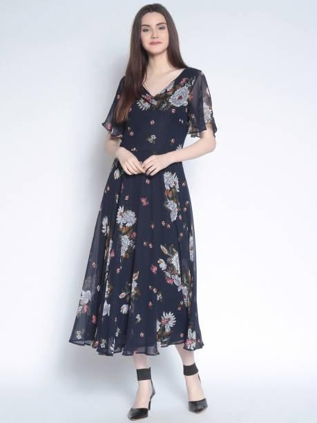 Rare Women Maxi Blue Dress