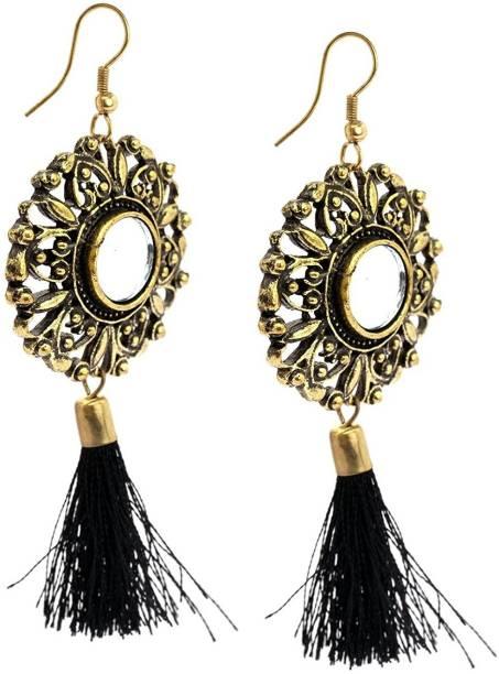 Fashmade Mirror Thread Tel Alloy Earring