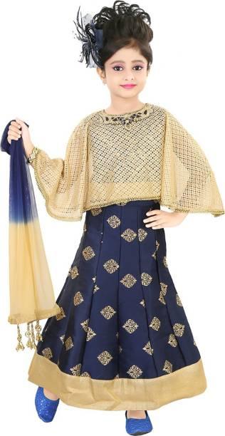 d776732287 Kool Kids Girls Lehenga Choli Ethnic Wear, Party Wear Self Design Lehenga,  Choli and